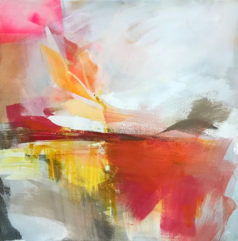 """POPPY CYSTER   DUSK DIMENSIONS   MIXED MEDIA ON CANVAS   100 x 100cm   £4000<br /><a class=""""buy-button"""" href=""""mailto:info@dacre-art.com?subject=Website%20Enquiry"""">Enquire</a>"""