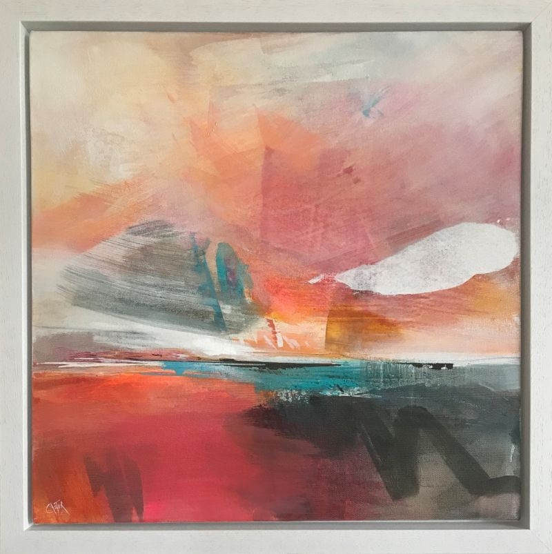 """POPPY CYSTER   GONE BEFORE DAWN 1   MIXED MEDIA ON CANVAS   50 x 50cm <br /><a class=""""buy-button"""" href=""""mailto:info@dacre-art.com?subject=Website%20Enquiry"""">Enquire</a>"""
