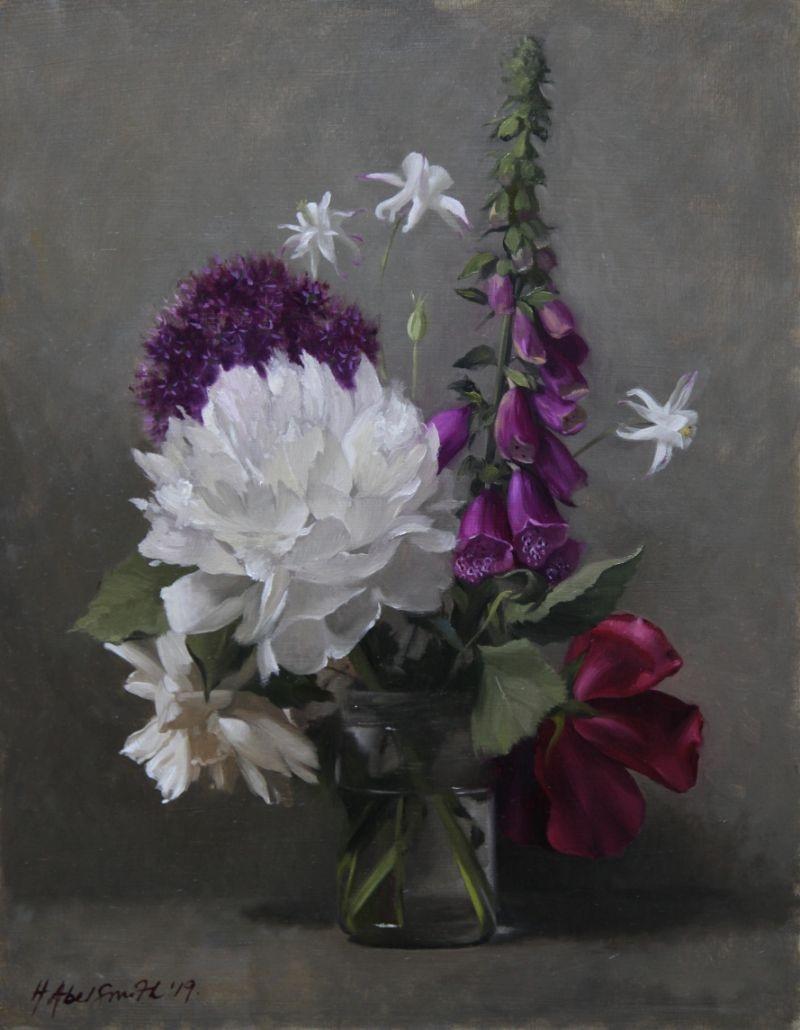 "HENRIETTA ABEL SMITH | MIXED SUMMER FLOWERS | OIL ON BOARD | 46 x 36cm | £1850<br /><a class=""buy-button"" href=""mailto:info@dacre-art.com?subject=Website%20Enquiry"">Enquire</a>"