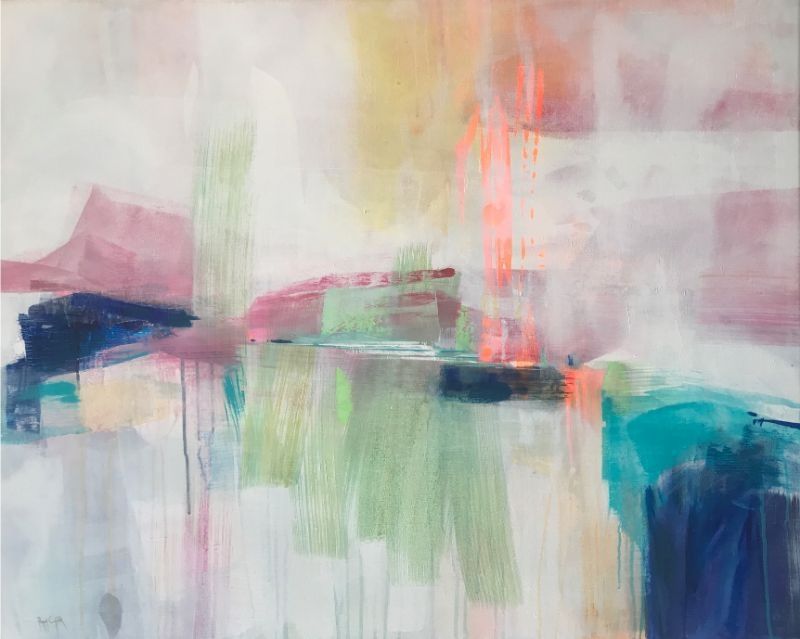 """POPPY CYSTER   HALCYON RAIN (TAKE 2)   MIXED MEDIA ON CANVAS   80 x 100cm   £3400<br /><a class=""""buy-button"""" href=""""mailto:info@dacre-art.com?subject=Website%20Enquiry"""">Enquire</a>"""