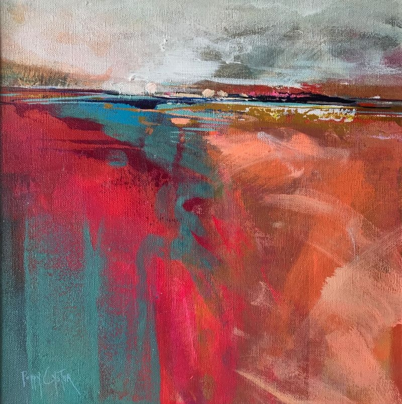 """POPPY CYSTER   MEET BY THE BEACH   MIXED MEDIA ON CANVAS   30 x 30cm   £960<br /><a class=""""buy-button"""" href=""""mailto:info@dacre-art.com?subject=Website%20Enquiry"""">Enquire</a>"""