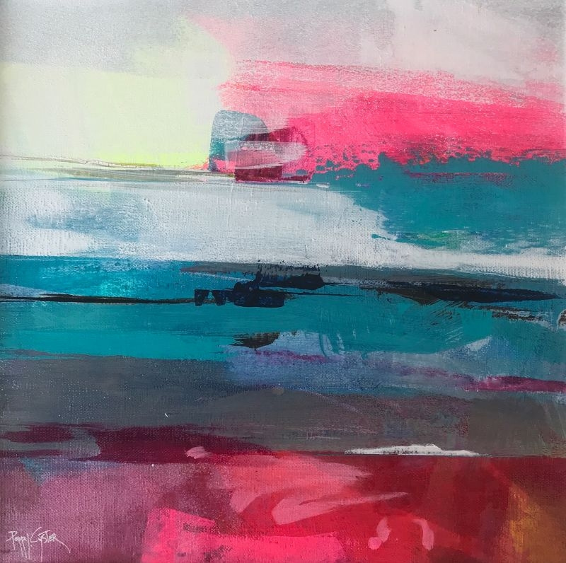 """POPPY CYSTER   MIDNIGHT MOON TIDE   MIXED MEDIA ON CANVAS   30 x 30cm<br /><a class=""""buy-button"""" href=""""mailto:info@dacre-art.com?subject=Website%20Enquiry"""">Enquire</a>"""