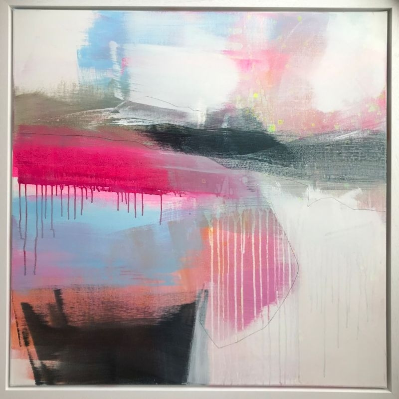 """POPPY CYSTER   RAIN KISSED   MIXED MEDIA ON CANVAS   100 x 100cm   £4000<br /><a class=""""buy-button"""" href=""""mailto:info@dacre-art.com?subject=Website%20Enquiry"""">Enquire</a>"""