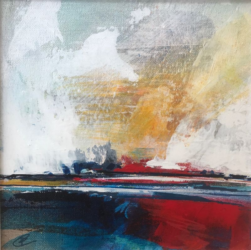 """POPPY CYSTER   THE DAY AWAITS 3   MIXED MEDIA ON CANVAS   20 x 20cm   £360<br /><a class=""""buy-button"""" href=""""mailto:info@dacre-art.com?subject=Website%20Enquiry"""">Enquire</a>"""