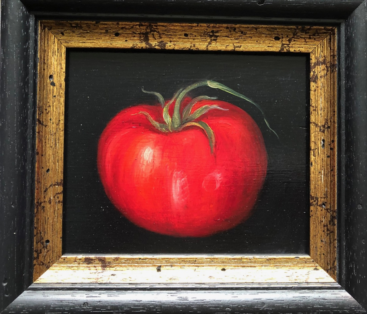 "MIMI ROBERTS   Tomato  OIL ON PANEL   17 x 19 cm   £275<br /><a class=""buy-button"" href=""mailto:info@dacre-art.com?subject=Website%20Enquiry"">Enquire</a>"
