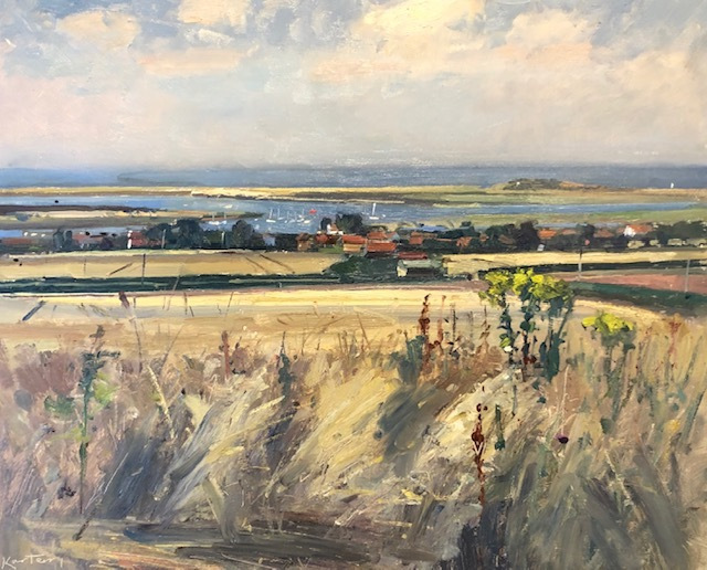 """KARL TERRY   Towards The Sea, Brancaster   OIL ON BOARD   41 x 51 cm   £1,600<br /><a class=""""buy-button"""" href=""""mailto:info@dacre-art.com?subject=Website%20Enquiry"""">Enquire</a>"""