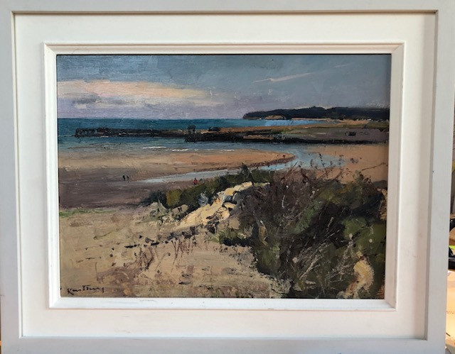 """KARL TERRY   Afternoon, Camber Sands   OIL ON Linen   28 x 36 cm   £800<br /><a class=""""buy-button"""" href=""""mailto:info@dacre-art.com?subject=Website%20Enquiry"""">Enquire</a>"""